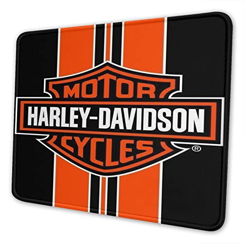 Ha-rle-y Da-vi-ds-on Gaming Mouse Pad with Stitched Edge Non-Slip Rubber Base Large Mouse Pads for Laptops Computers and Pc 8.3 X 10.3 in
