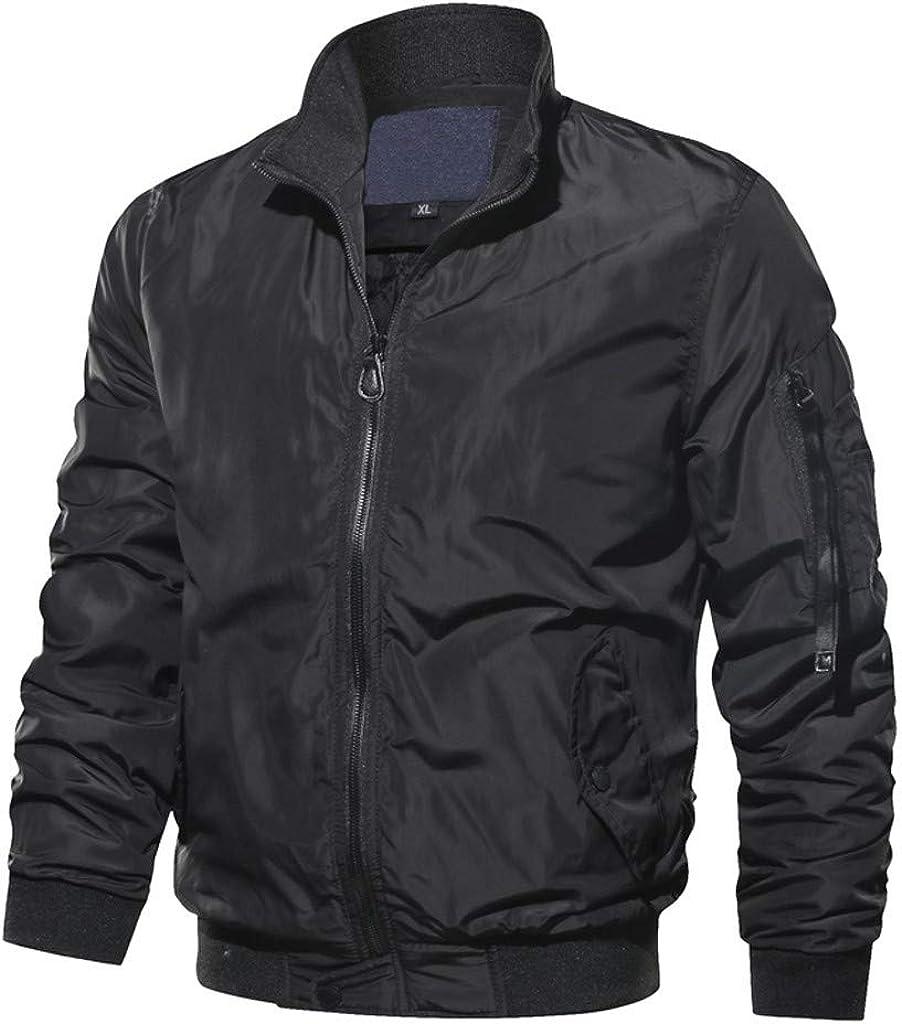 Stoota Men's Packable Down Jacket, Winter Stand Collar Regular Fit Lightweight Winter Puffer Coat Outerwear Black