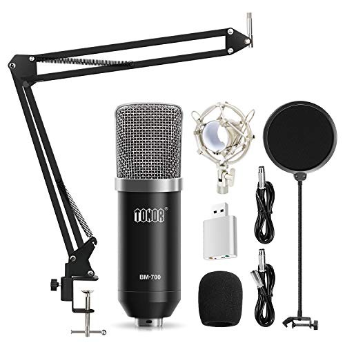 Color : Black Microfono a condensatore Kit Bm-800 Mic con Microfono Copertina Spugna Shock Mount Audio Cable for Studio Recording /& Broadcasting Microfono Professionale