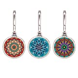 HEYGOO Boho-Inspired Zipper Pull for Women, Colorful Jewelry Purse Jacket Packbag Decorate Charms, Pack of 3