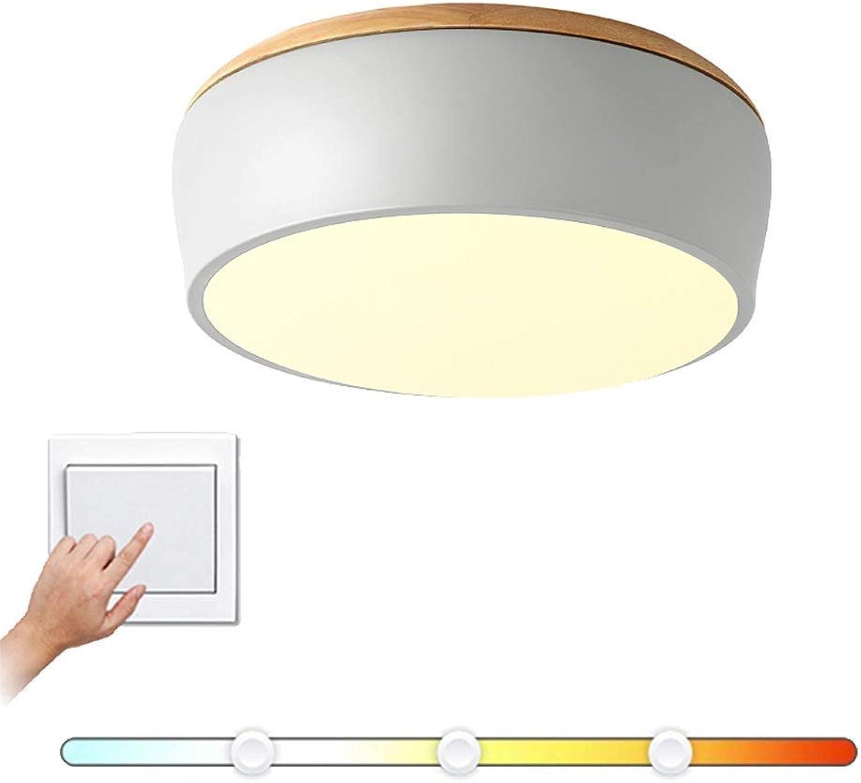 Lincjly ttkc Moderne minimalistische Deckenleuchte Runde Metall LED Deckenleuchte Unterputz, Bunte Deckenleuchte mit Acryl Holz Dekor Leuchte für Esszimmer Kinderzimmer