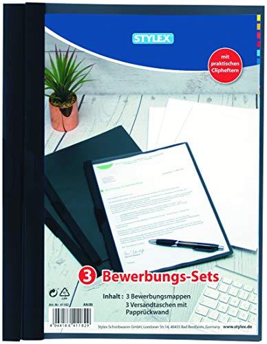 Bewerbungs-Set, 3 Stück (Klemmhefter)