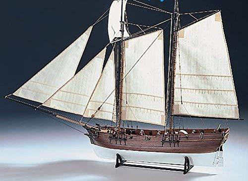 XIUYU Wohnzimmerdekorationen Wasserfahrzeug Modellbau Kits Schiffs-Modell-Boot Kit Maßstab 1/60 Schiffsmodell Bausätze Abenteuer Piraten-Schiff 1718 Schiff aus Holz Modell