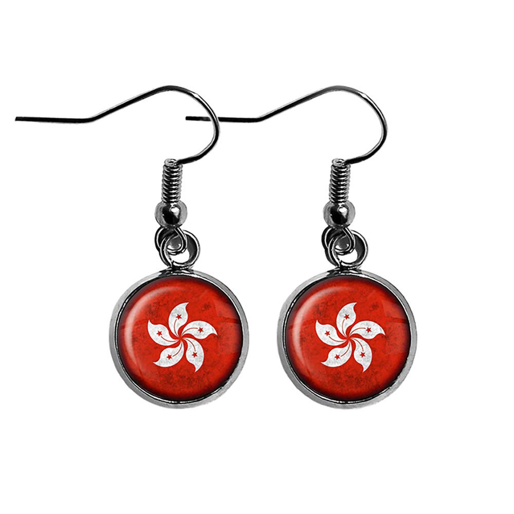 4 years warranty Hong Kong ! Super beauty product restock quality top! 香港 Flag Surgical Earrings Steel