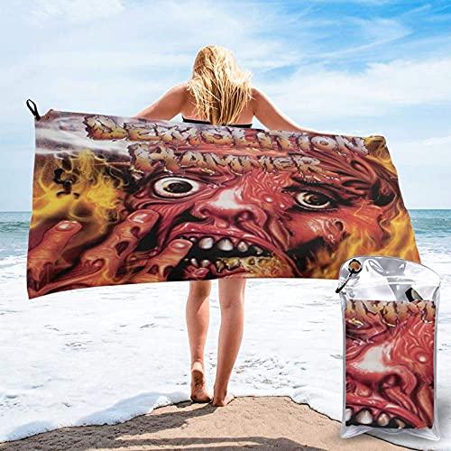 Lsjuee martillo demoledor Toalla de playa de microfibra de secado rápido, bolsa de transporte, toalla superabsorbente, toalla sin arena, viajes, gimnasio, camping, piscina, yoga, al aire libre y picni