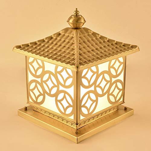 JJZXD Lámpara de Cabeza de Poste Patio de la Comunidad Lámpara de Poste de Pared Cuadrada Lámpara de Puerta de jardín de Villa Impermeable al Aire Libre