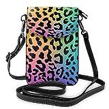 Crossbody teléfono celular monedero jirafa impresión mujeres pu cuero multicolor bolso con correa ajustable