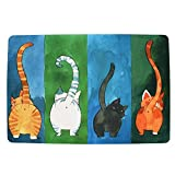 WOOD MEETS COLOR Cat Door Mat Durable Non-Slip Plush with Wool Felt Washable Personalized(Many 40 * 60CM)