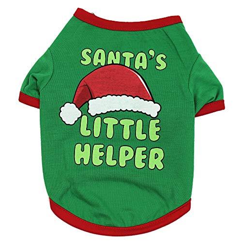VENMO Weihnachten Hundebekleidung Polyester T Shirt Puppy Kostüm Hündchen Hund Kleidung Weiches Pullover Kostüm Hundemantel Haustier Hoodie warme Sweatshirts Puppy Coat Bekleidung
