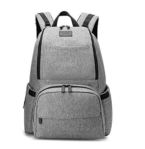 Etyybb Cambio de mochila Bolsa de mochila impermeable Bolsa de cambio de bebé Cool Nappy Mochila Organizador Pañal de gran capacidad Bolsa de asas