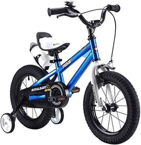 ZSY Bicicletas Bicicletas para niños, Bicicletas para niños, niños y niñas, Deportes, Bicicletas de 2 a 10 años, automóvil para niños, al Aire Libre, portátil (Color: Azul, Tamaño: 14 en)