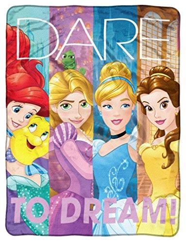 Disney's Princesses, 'Dreamers' Micro Raschel Throw Blanket, 46' x 60', Multi Color