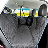 SUPSOO Car Seat Covers Dogs Back seat Covers, 100% Waterproof and Scratchproof & Nonslip Backing & Hammock Convertible and Side Flaps for Cars/Trucks/SUV - Black
