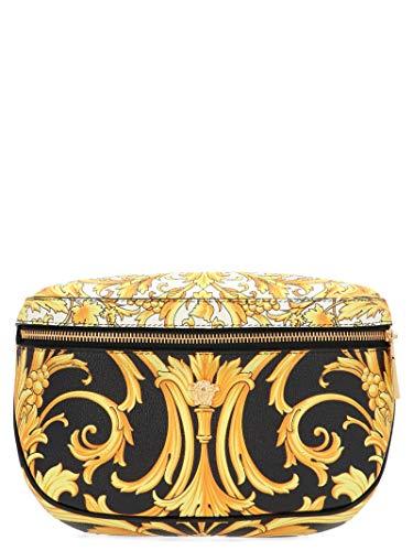 Luxury Fashion | Versace Heren DFB7225DVTG8DNOOH Zwart Leer Heuptas | Lente-zomer 20