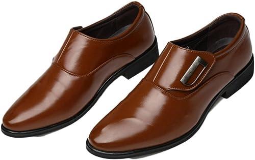 Snfgoij Chaussures en Cuir pour Hommes marron Cravate Formal Soft Commerce Chaussures Hommes Chaussures de Printemps Conseils