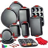 10-Piece Bakeware Sets, Nonstick Baking Set with Baking Pan, Loaf Pan,...
