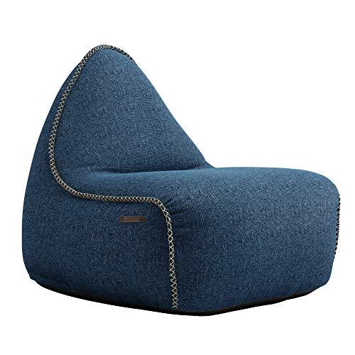 SACKit - RETROit Medley Denim - Blauer Indoor Sitzsack mit Lehne und Füllung mit EPS Kugeln und Schaumstofffüllung für einen optimalen Sitzkomfort - Großer Sitzsacke für Erwachsene