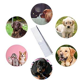 JieGuanG Peigne à poils longs en acier inoxydable pour chien et chat