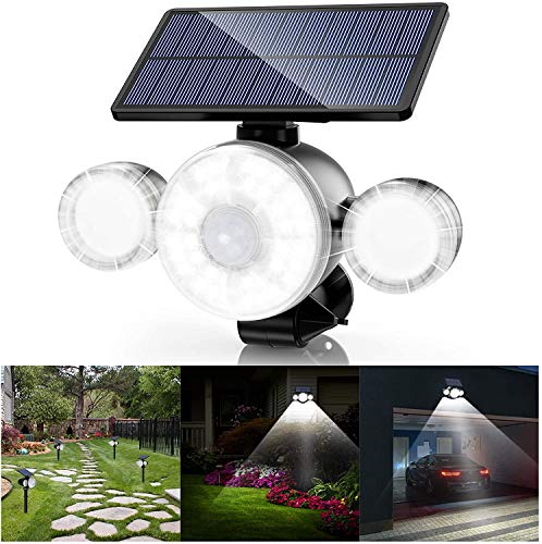 Solar Lights Outdoor, Security Lights with Motion...