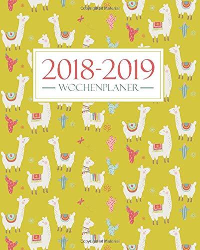 Wochenplaner 2018-2019: August 2018 – Juli 2019: 19 x 23 cm : Lama und Kaktus 3537