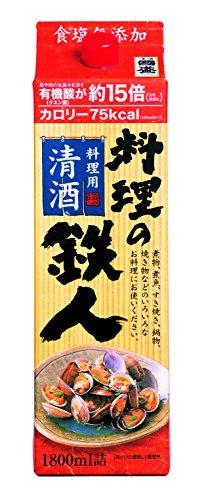 中埜酒造 清酒料理酒 料理の鉄人 パック [ 日本酒 愛知県 1800ml ]