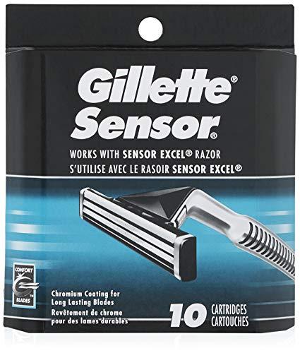 Gillette Sensor Men's Razor Blades – 10 Refills