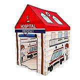 LANHA Tenda per Ambulanza per Bambini, Rossa Pop-up per Ambulanza Finta per Bambini Ragazzi Ragazze per Interni All'aperto Set rapido Pieghevole Spazioso