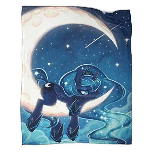 My Little Pony Princess Luna Moon Princess Unicorn Super Soft Warm Winter Cabin Throw Blankets Kids Children Baby Throw Blanket 30x40inch(80x100cm)