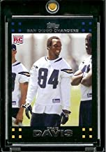 2007 Topps Football # 327 Craig Buster Davis (RC) Rookie Card - San Diego Chargers - NFL Trading Cards