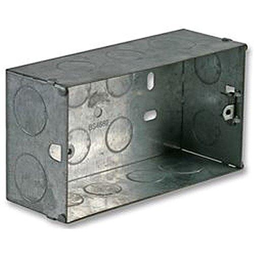 Caja metálica 2 GANG 47 mm cajas traseras eléctrico/de cajas: Amazon.es: Bricolaje y herramientas