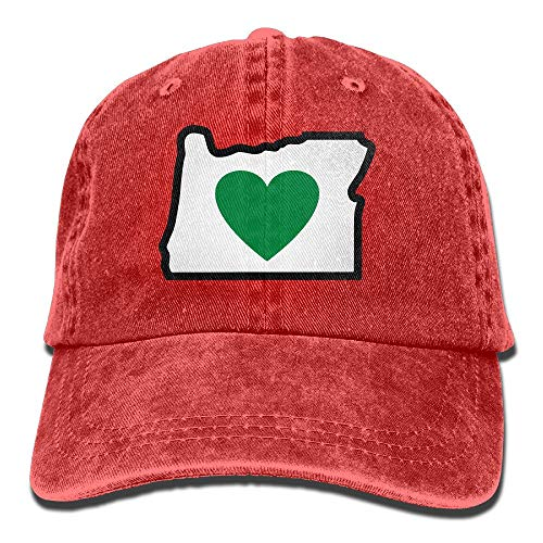 Heart In Oregon Vintage Jeans Baseball Cap Outdoor Sports Hat for Men and Women