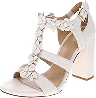 Michael Michael Kors Womens Tricia T-Strap Leather Open Toe Special Occasion
