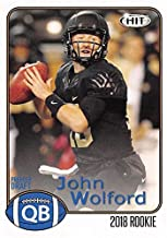 John Wolford Football Card (Wake Forest Deamon Deacons) 2018 SAGE HIT Draft Rookie #14