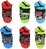 Blaze and the Monster Machines Little Boys 6 pack Socks (Medium Shoe: 10-4 (Sock:6-8), Black/Multi)