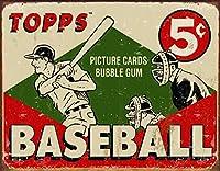TOPP 1955 BASEBALL★ベースボール★レトロ調★アメリカンブリキ看板