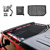 Micephon Top Roof JL JLU Sunshade for Jeep Wrangler 2 Door and 4 Door(Front Part) 2018-2019
