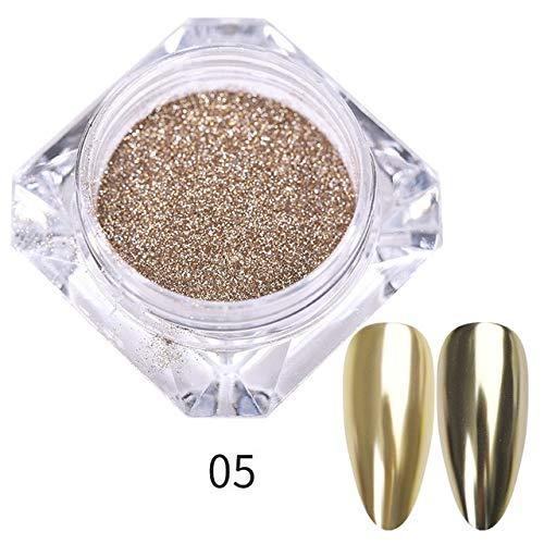 RSS Nail Spiegel Glitter Puder Metallic-Farben-Nagel-Kunst-UVgel Polieren Chrom Flakes Pigment Staub Dekorationen (Color : Pattern 05)