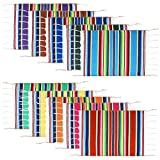 10 Pieces Mexican Table Place Mats Assorted Mexican Serape Placemats Washable Table Mats for Cinco de Mayo Mexican Fiesta Party Wedding Decorations, 18.1 x 12.6 Inch