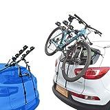 EMMEA PORTABICI Posteriore Auto 3 Bici Regolazione Cinghie Biciclette Compatibile con Dacia Duster (Rails) 5P (09-13) Alluminio CARICO Max 45KG Protezione TELAI Verona Alu