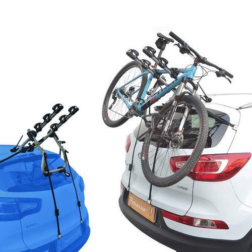 EMMEA PORTABICI Posteriore Auto 3 Bici Regolazione Cinghie Biciclette Compatibile con Mitsubishi ASX (Rails) 5P (2010-) Alluminio CARICO Max 45KG Protezione TELAI Verona Alu