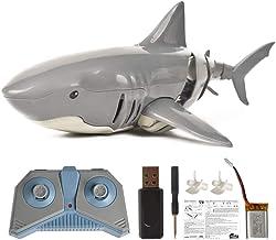 Juguete de Tiburón de Control Remoto, Juguete de Tiburón Eléctrico, Barco de Peces RC Shark Submarino Mini Radio Control Remoto Juguete de Baño Electrónico de Tiburón Nadador
