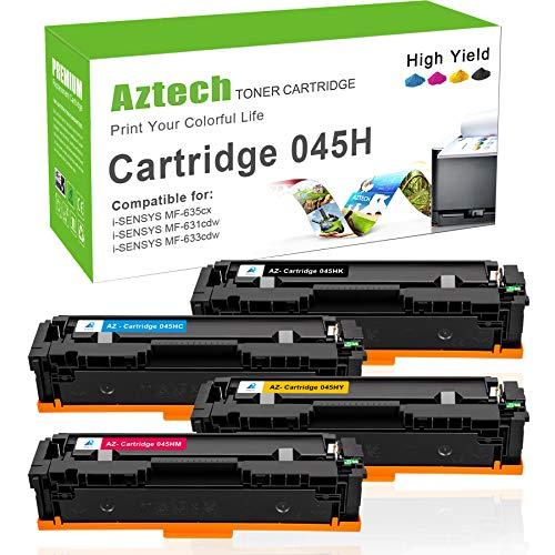 Aztech Kompatibel Toner Cartridge Replacement für Canon 045 045h für Canon i-Sensys MF635cx LBP613cdw LBP611cn LBP612cdw MF635cx MF633cdw MF631cn MF632cdw MF634cdw Cartridge 045 045h Toner