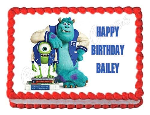 Monsters Inc. Monsters University Edible Cake Image Cake Topper