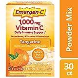 Emergen-C Vitamin C 1000mg Powder (30 Count, Tangerine Flavor, 1 Month Supply), With Antioxidants, B Vitamins And Electrolytes, Dietary Supplement Fizzy Drink Mix, Caffeine Free