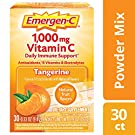 Emergen-C Vitamin C 1000mg Powder (30 Count, Tangerine Flavor, 1 Month Supply), With Antioxidants, B Vitamins And Electrolytes, Dietary Supplement Fizzy Drink Mix, Caffeine Free