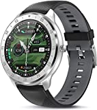 Smartwatch, 1.3 Zoll HD Farbdisplay Fitnessuhr IP67 Wasserdicht Smart Watch, Fitness Tracker mit Stoppuhr Schlafmonitor Pulsuhren Schrittzähler, Armbanduhr Herren Damen Sportuhr für iOS Android (B)