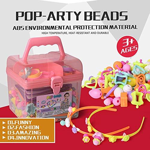 Perlas Pop para niñas de 3 a 8 años, juego de joyas para hacer collares, pulseras, anillos, diadema 600pcs