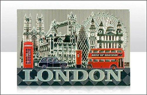 Elgate 9327 calamita da frigo in metallo London, souvenir, luoghi famosi