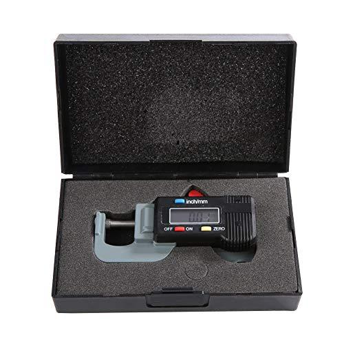 Medidor de Espesor Digital, 0-12.7mm Medidor de Espesor Digital Metal Espesor Electrónico Micrómetro Joya Regla de Perla, Medición del grosor de la joyería, cuero, chapa