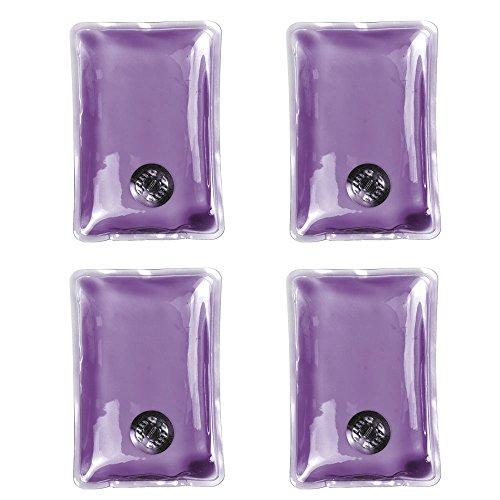 eBuyGB® Lot de 4 Chauffe-Mains en Gel Chauffant instantané réutilisable (Violet)